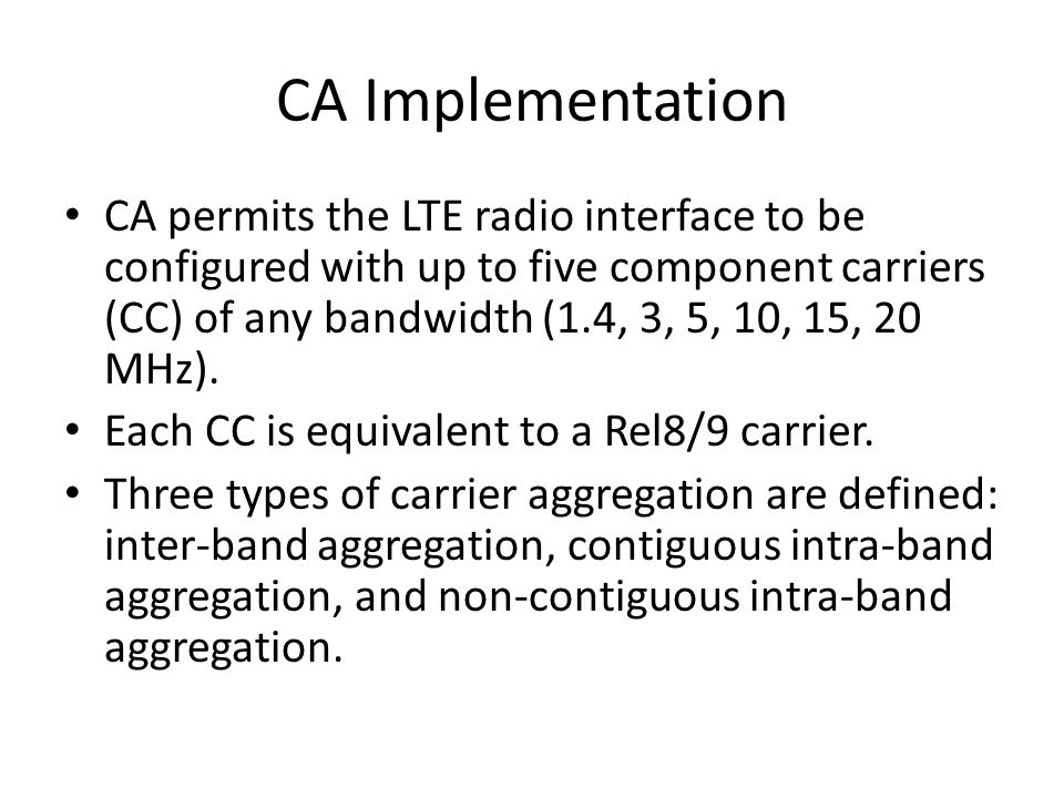 Impact of CA on the PHY Layer PUCCH is only transmitted on PCells.