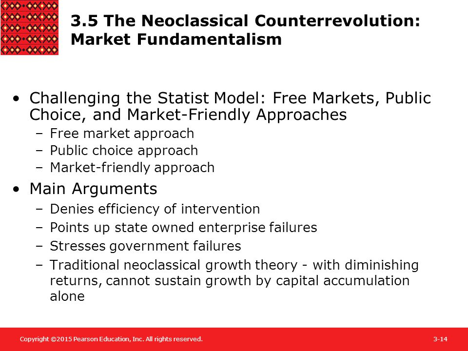 Copyright ©2015 Pearson Education, Inc. All rights reserved.3-14 3.5 The Neoclassical Counterrevolution: Market Fundamentalism Challenging the Statist