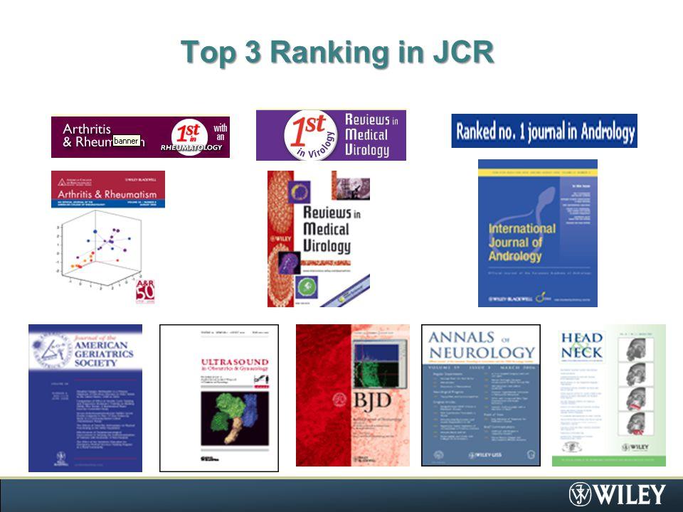 Top 3 Ranking in JCR