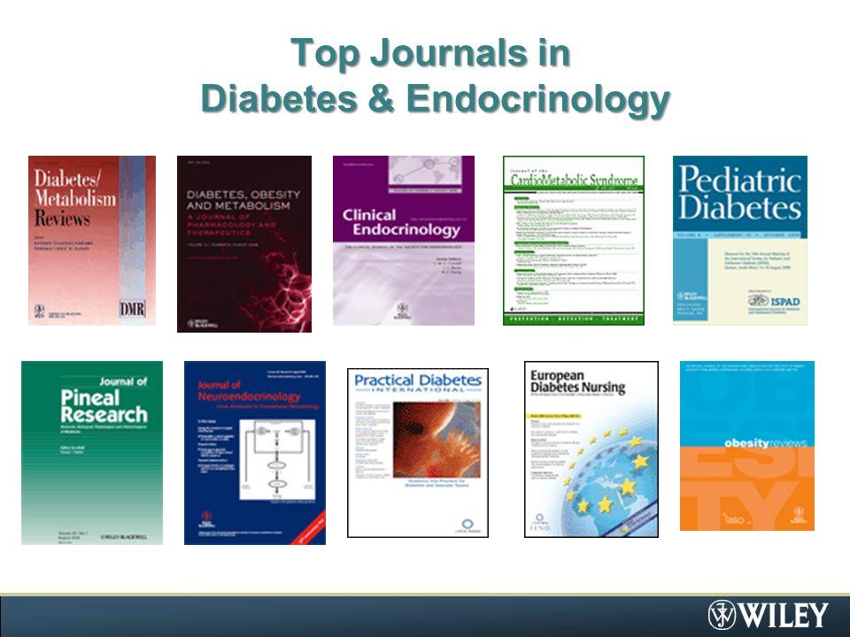 Top Journals in Diabetes & Endocrinology