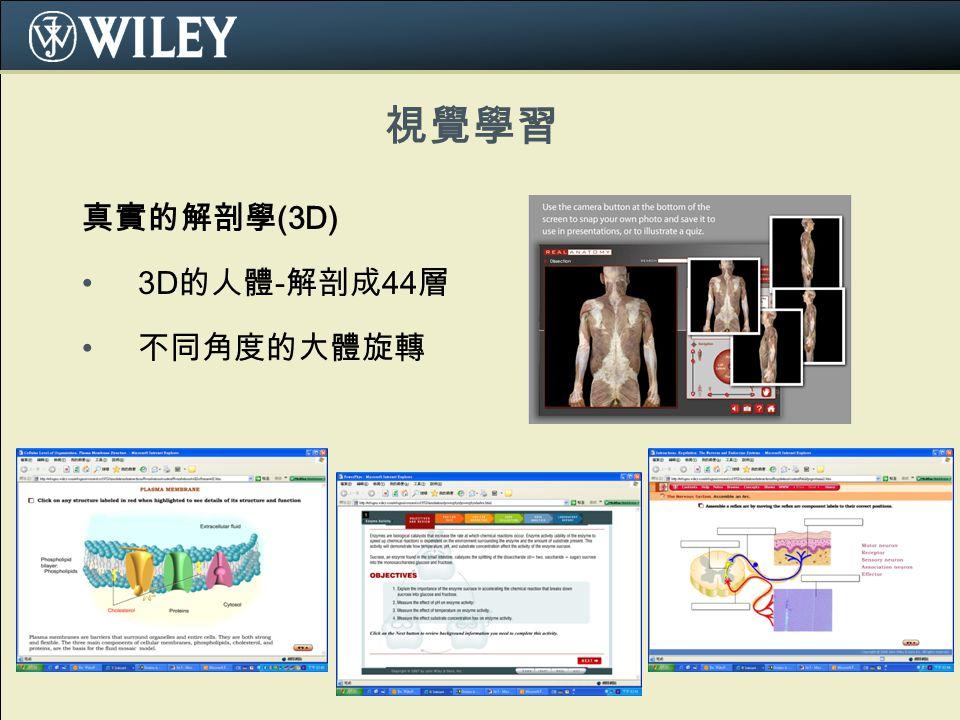 視覺學習 真實的解剖學 (3D) 3D 的人體 - 解剖成 44 層 不同角度的大體旋轉