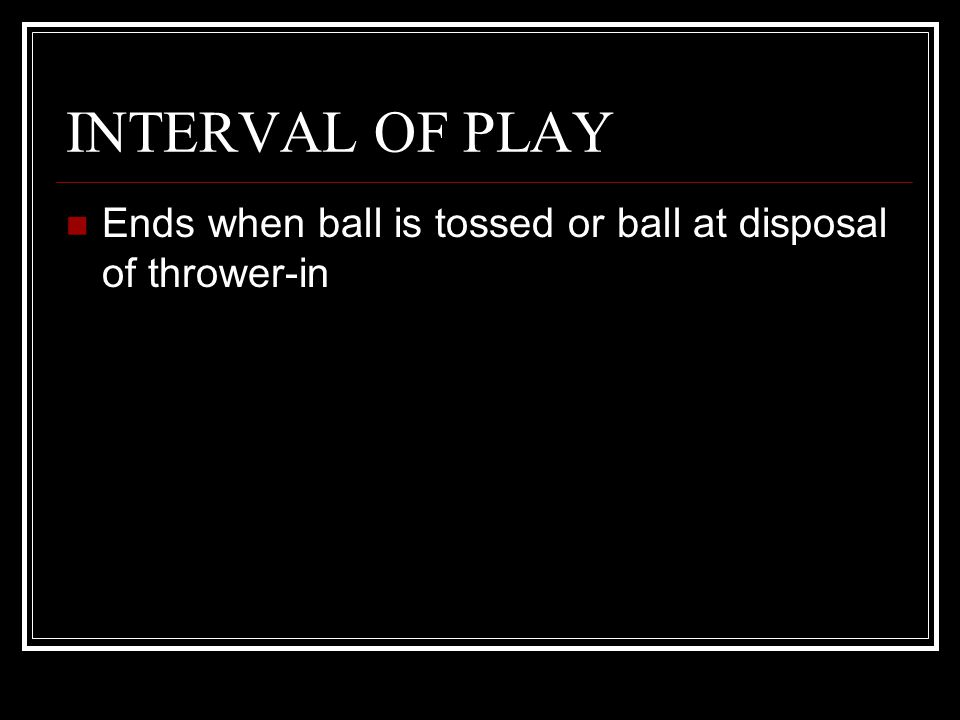 INTERVAL OF PLAY Question 1: At the beginning of the game, the referee enters the circle to administer the jump ball between jumpers A1 and B1.