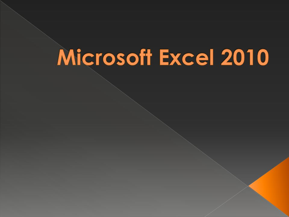  Microsoft Excel is an electronic spreadsheet.