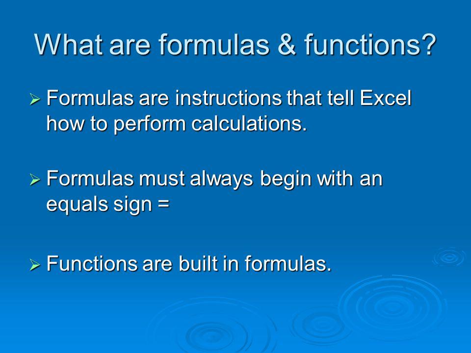 Excel Glossary 1.=SUM( ) 2. =AVERAGE( ) 3. =MAX( ) 4.