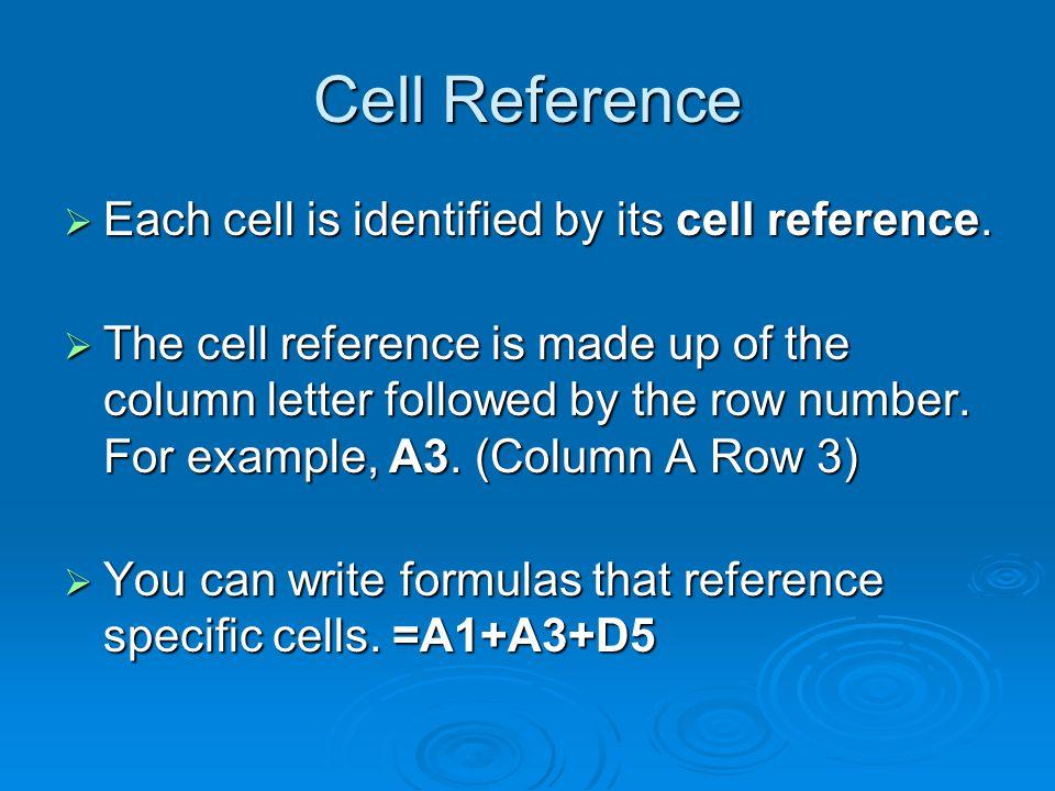 The Fill Handle Fill Handle  The Fill Handle allows you to copy formulas across a range of cells.