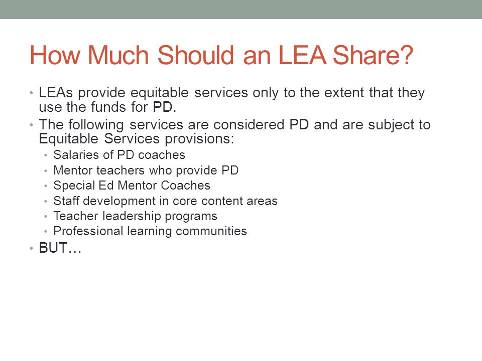 How Much Should an LEA Share.