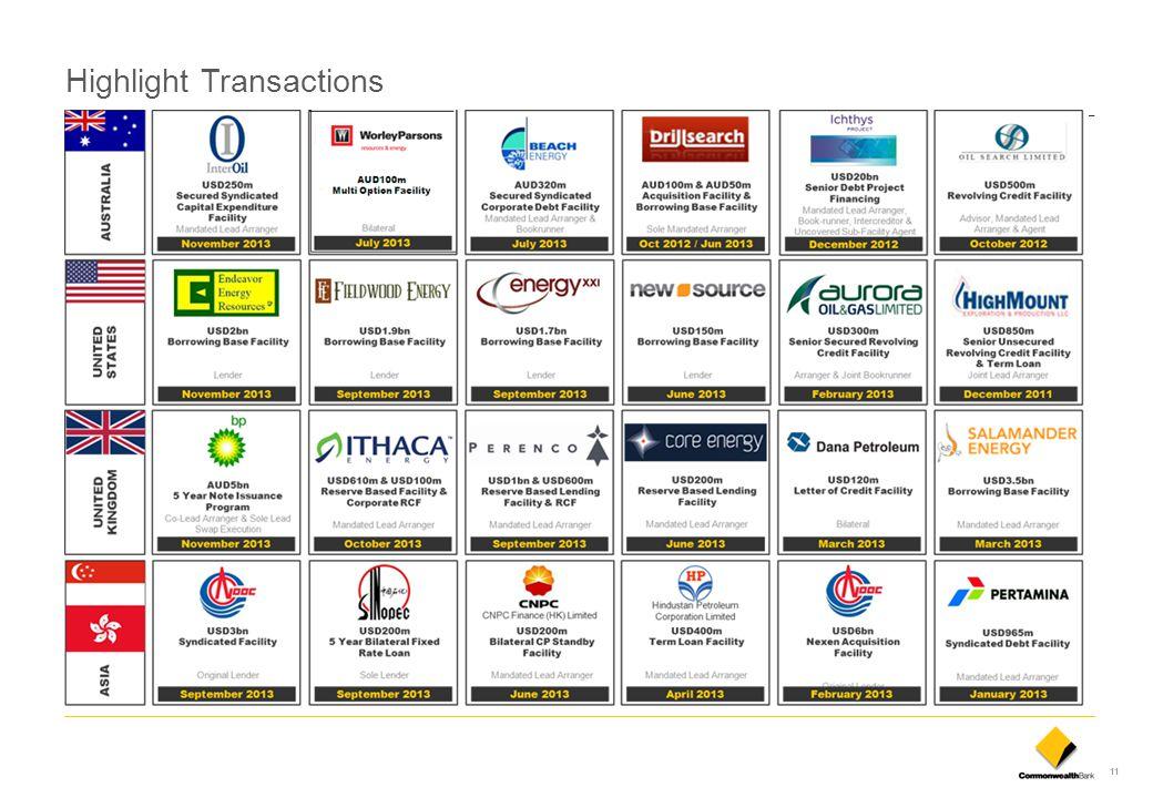 11 Highlight Transactions
