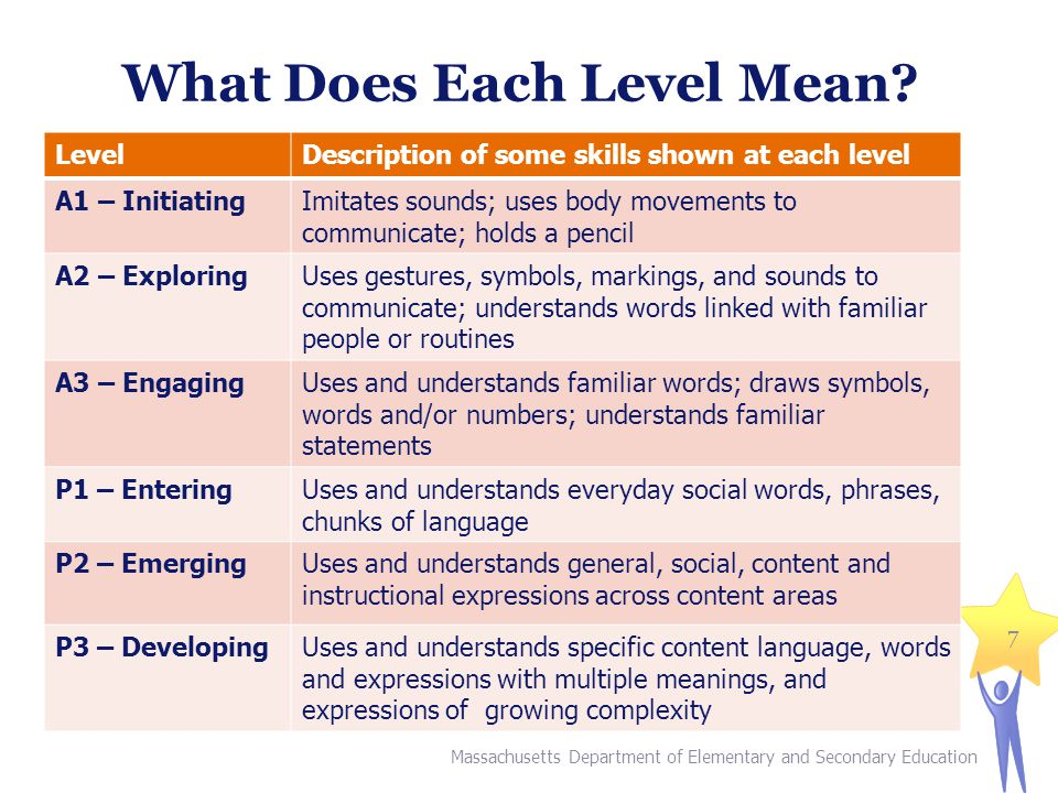 What Does Each Level Mean.