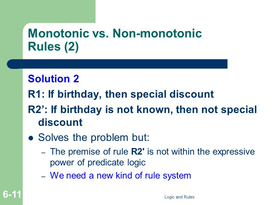 Monotonic vs.