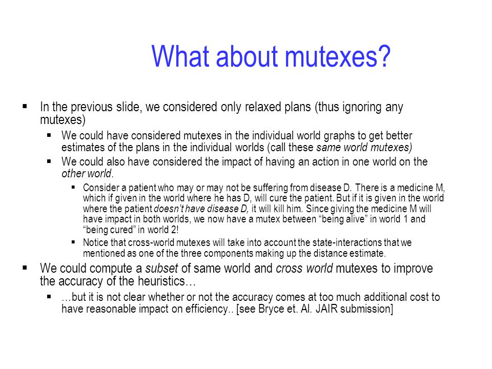 What about mutexes.