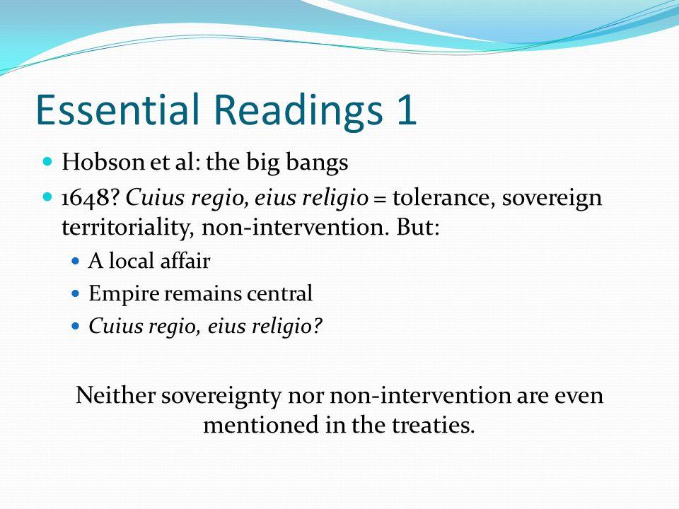 Essential Readings 1 Hobson et al: the big bangs 1648.