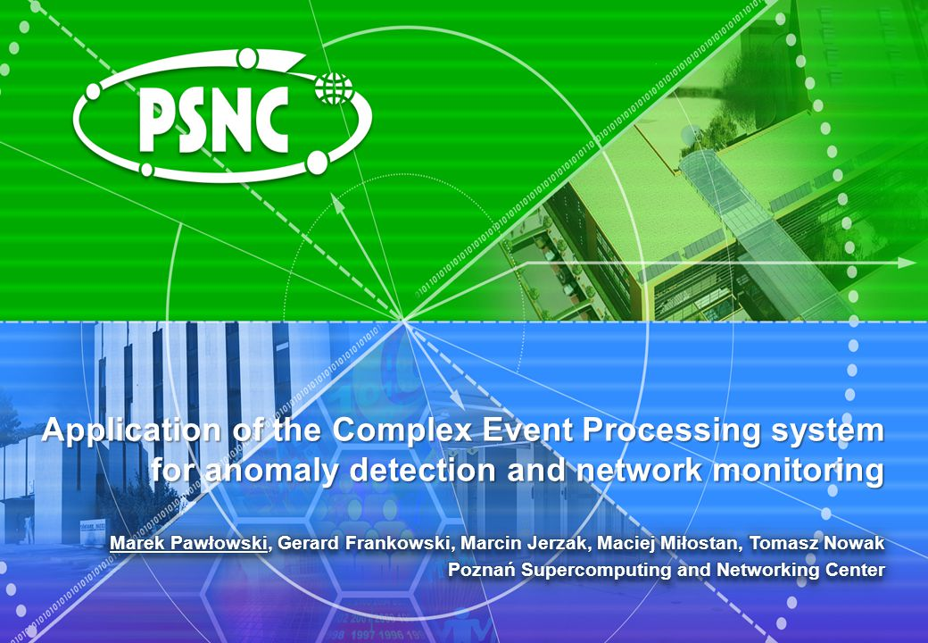 Application of the Complex Event Processing system for anomaly detection and network monitoring