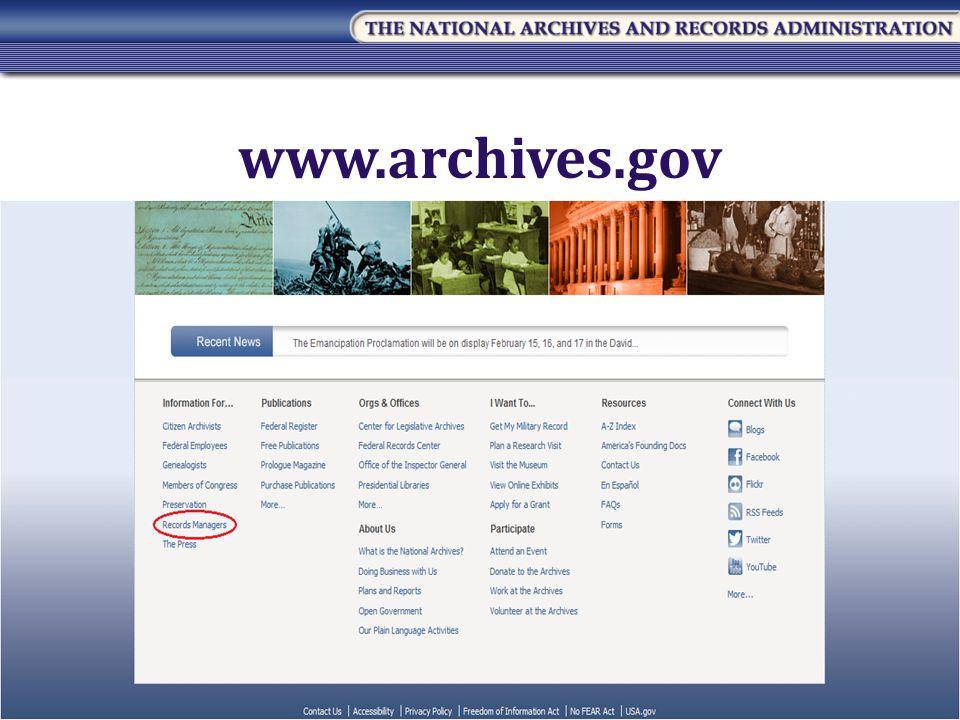 49 www.archives.gov