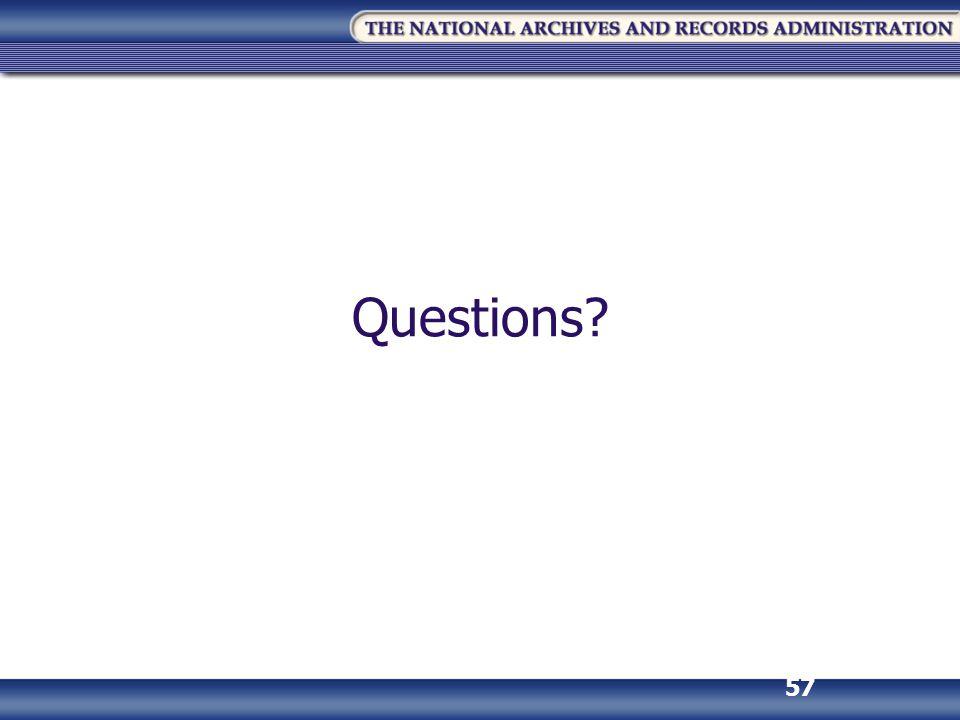 57 Questions?