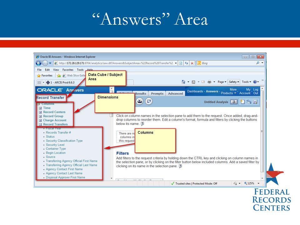 """Answers"" Area"