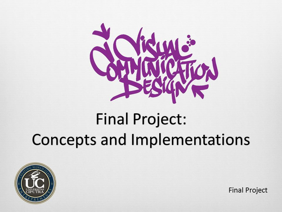Final Project: Concepts and Implementations Final Project