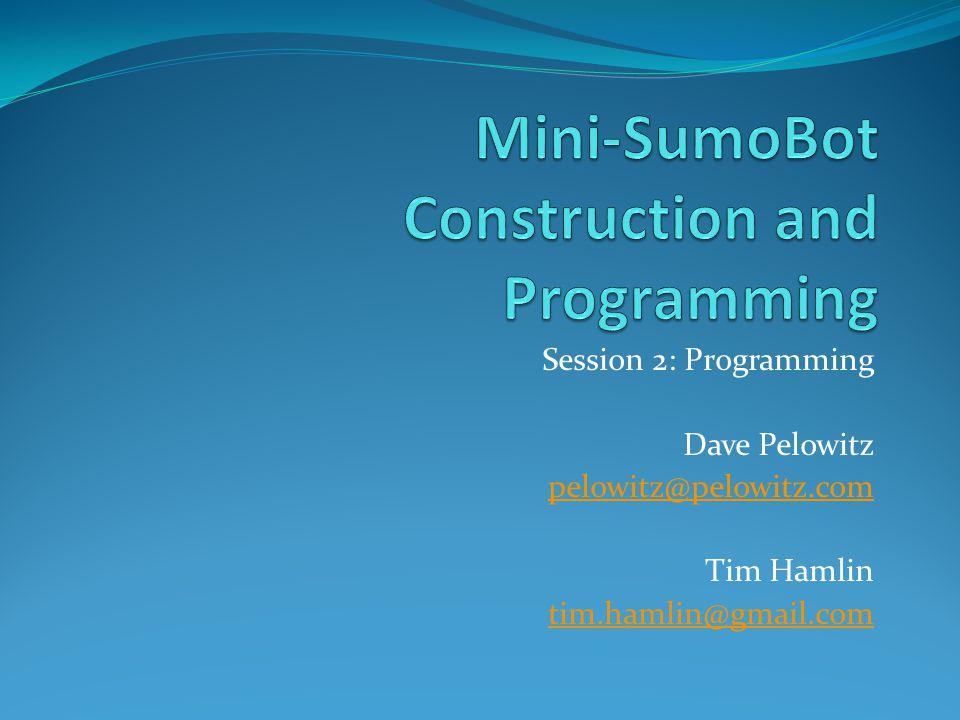 Session 2: Programming Dave Pelowitz pelowitz@pelowitz.com Tim Hamlin tim.hamlin@gmail.com