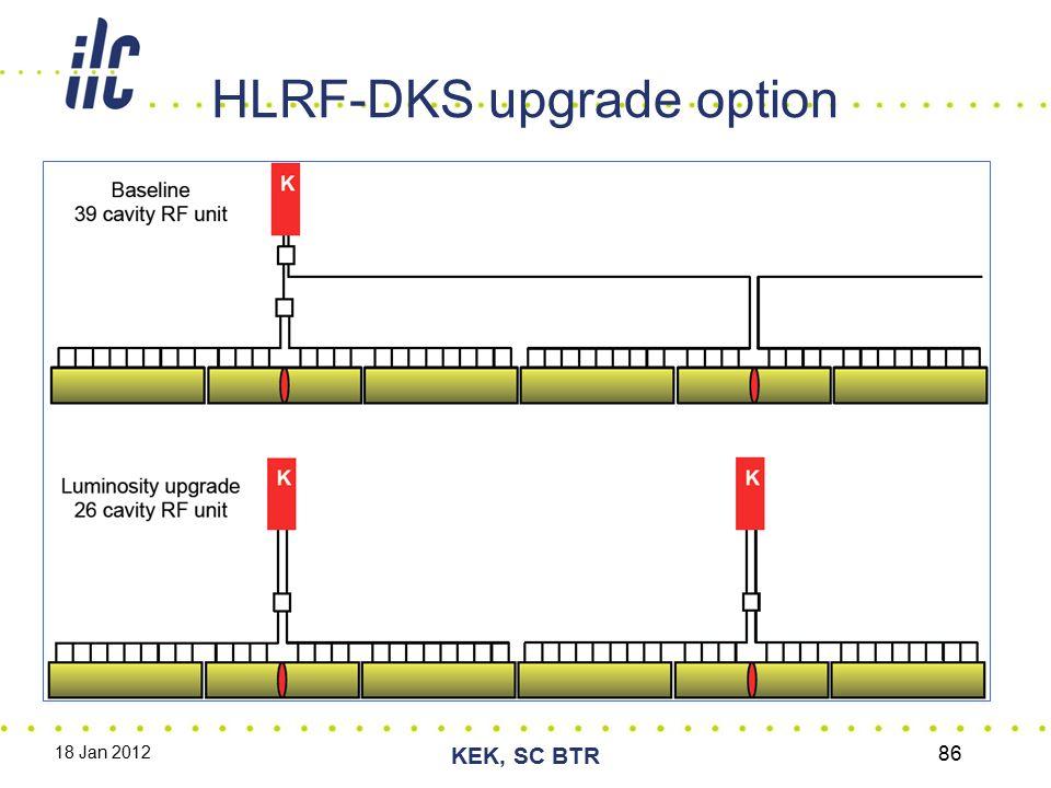 HLRF-DKS upgrade option 18 Jan 2012 KEK, SC BTR 86