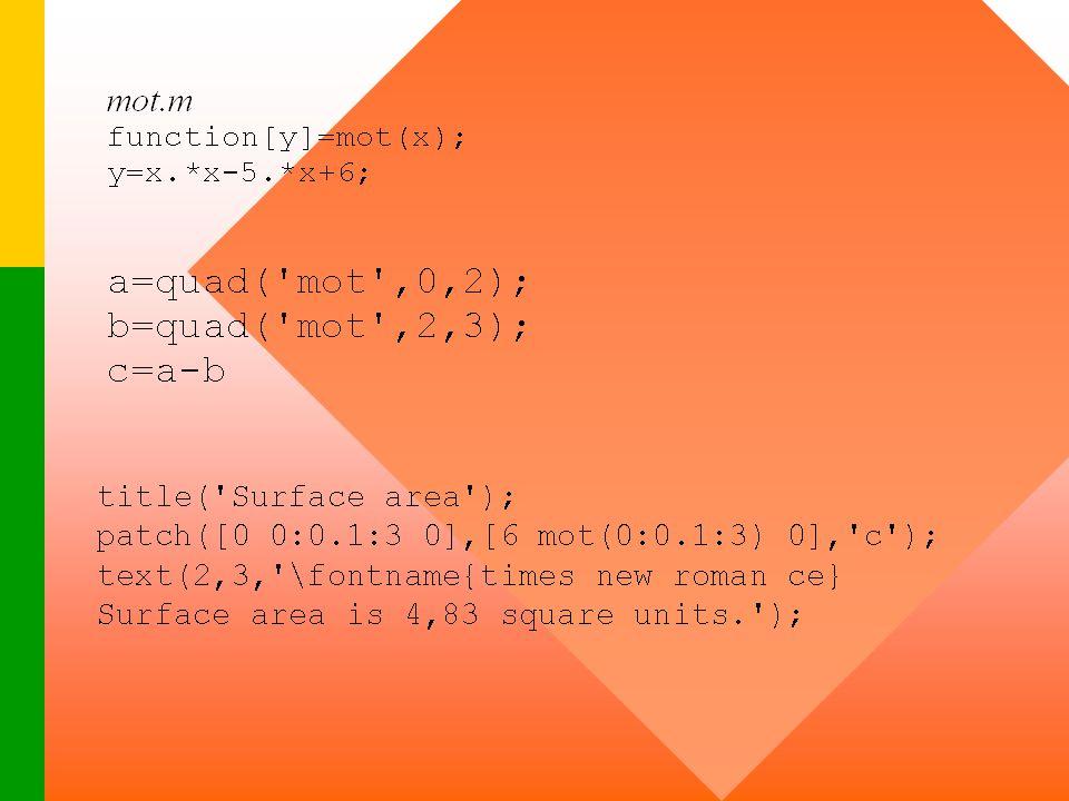 convertx.m y=acos(x); z=180*y./pi; degrees=fix(z); p=(z-degrees)*60; minutes=fix(p); seconds=round((p-minutes)*60); degrees,minutes,seconds x=-0.6874;convertx