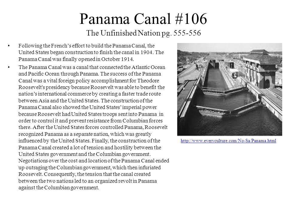 Panama Canal #106 The Unfinished Nation pg.