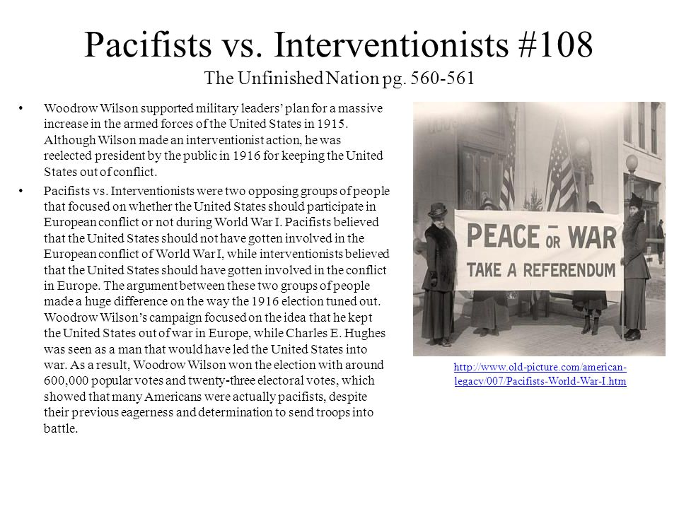Pacifists vs.
