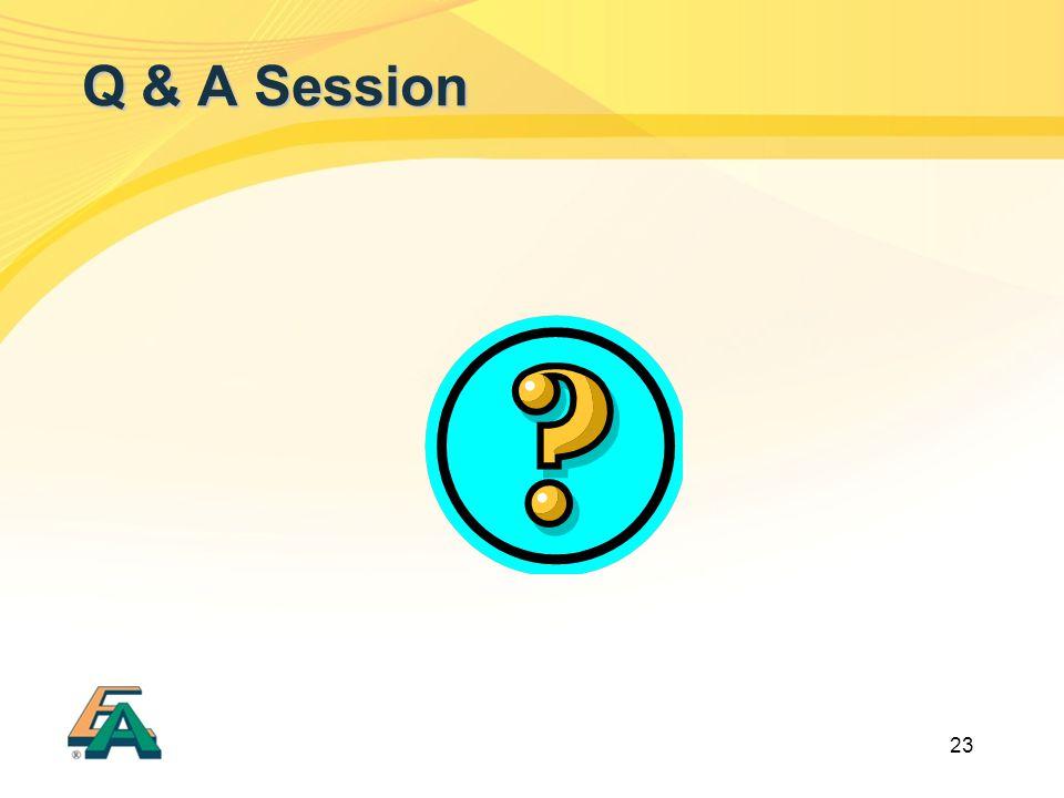 23 Q & A Session