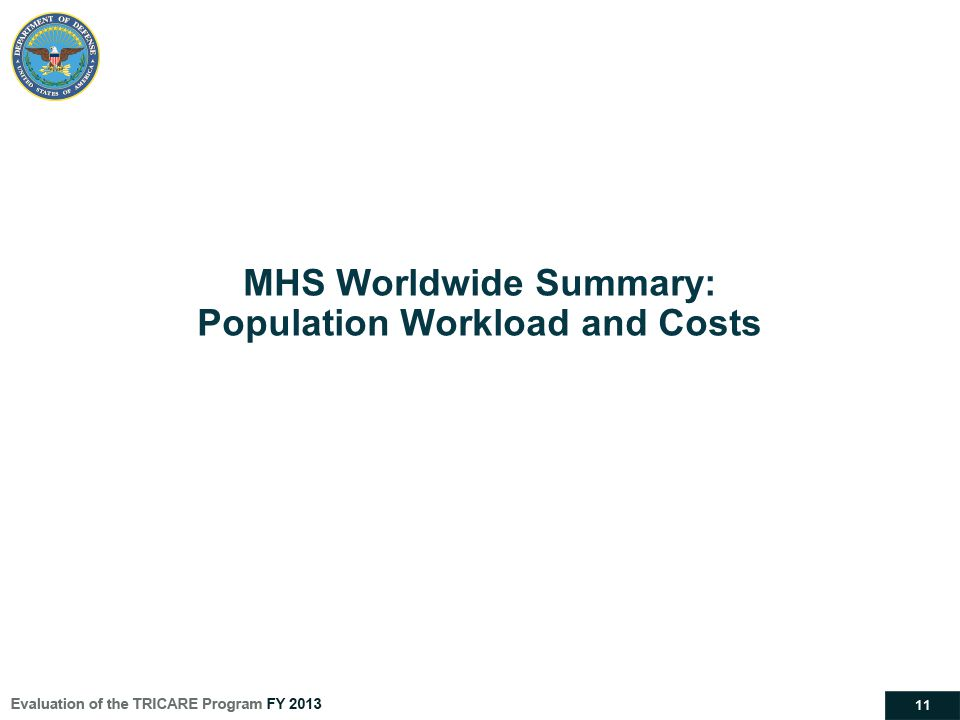 11 MHS Worldwide Summary: Population Workload and Costs