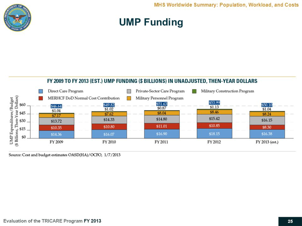 25 MHS Worldwide Summary: Population, Workload, and Costs UMP Funding