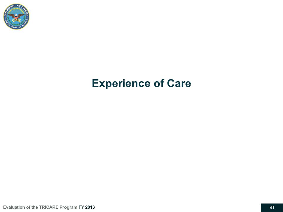 41 Experience of Care