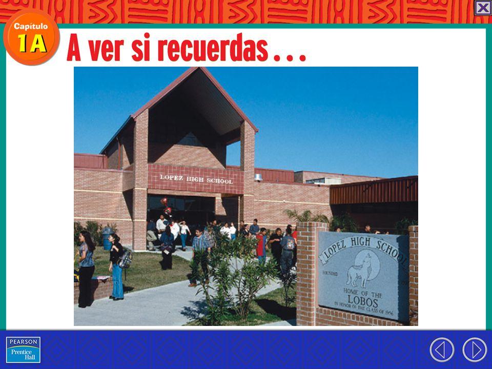 ¡Hola.Me llamo Miguel. En mi escuela siempre estamos muy ocupados.