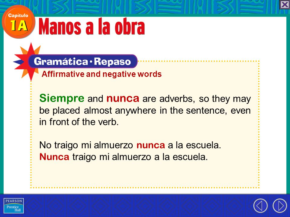Siempre and nunca are adverbs, so they may be placed almost anywhere in the sentence, even in front of the verb.