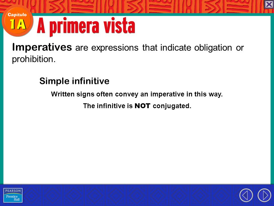 Imperatives are expressions that indicate obligation or prohibition.