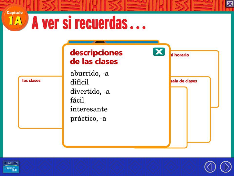 La profesora de español de la Escuela Benito Juárez prepara un cartel con las reglas de la escuela.