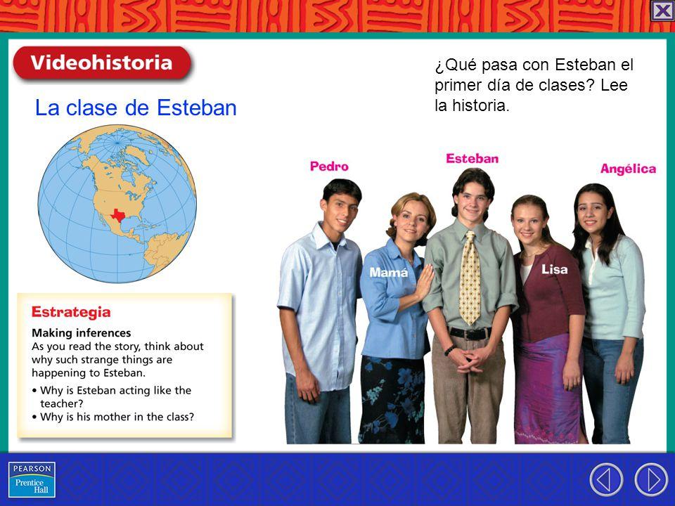La clase de Esteban ¿Qué pasa con Esteban el primer día de clases Lee la historia.