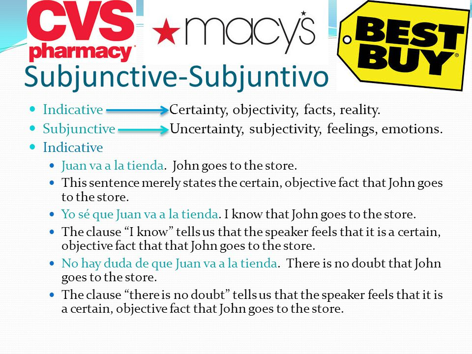 Subjunctive Recap In learning to use the subjunctive, it is quite helpful if we can first recognize such clauses. So far, you have studied verb tenses