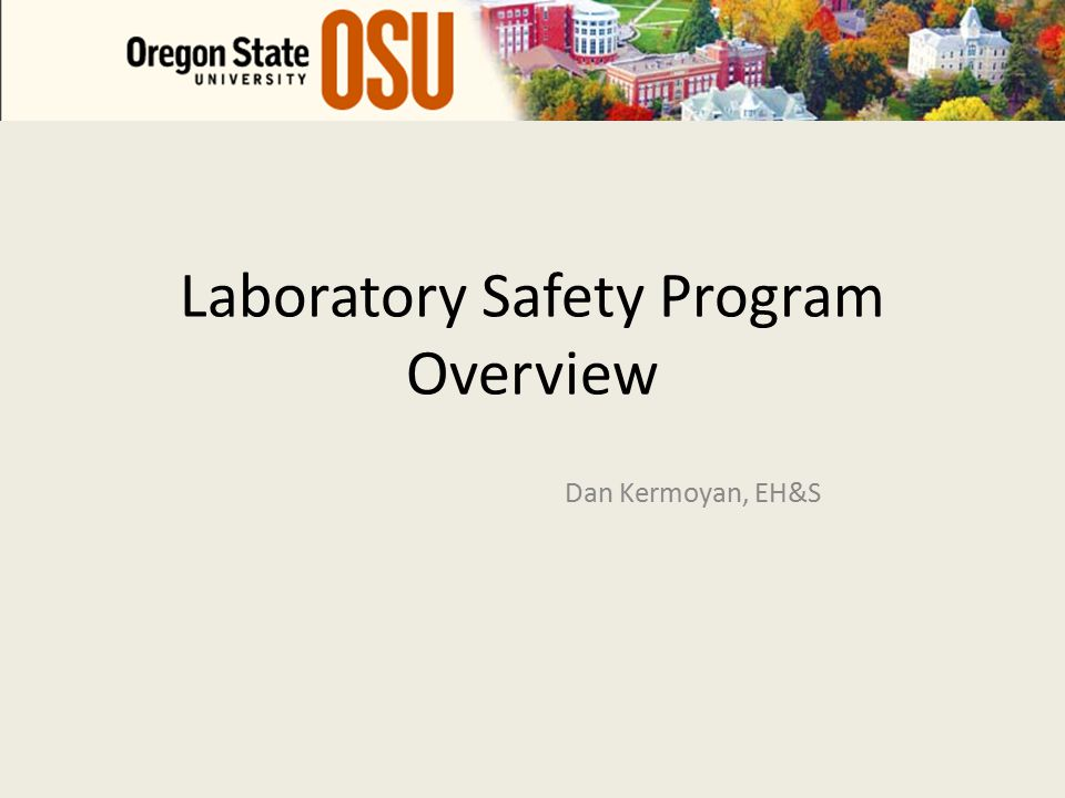 Lab Safety Program: Identifying Needs Fallacy: compliance = 0 risk, OSHA << EPA Regulatory agencies Observations/Knowledge of programs Discussions with campus ISO 14001 Analytical Model Quantify, Rank, Prioritize 2009/2010