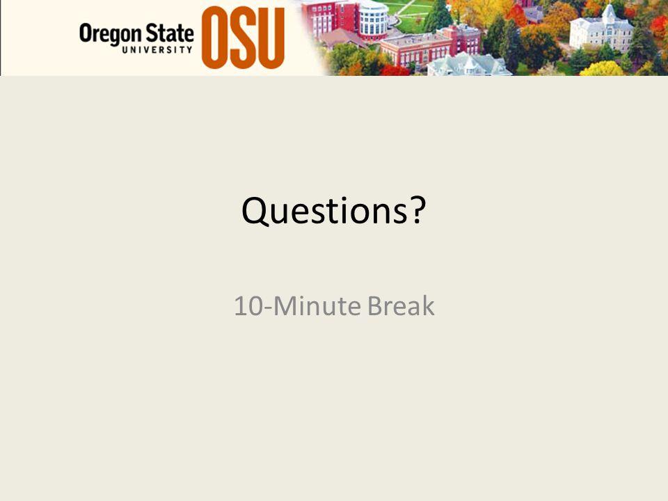 Questions 10-Minute Break