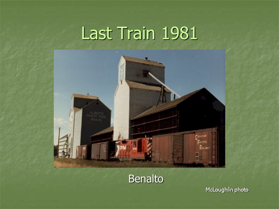 Last Train 1981 Benalto McLoughlin photo