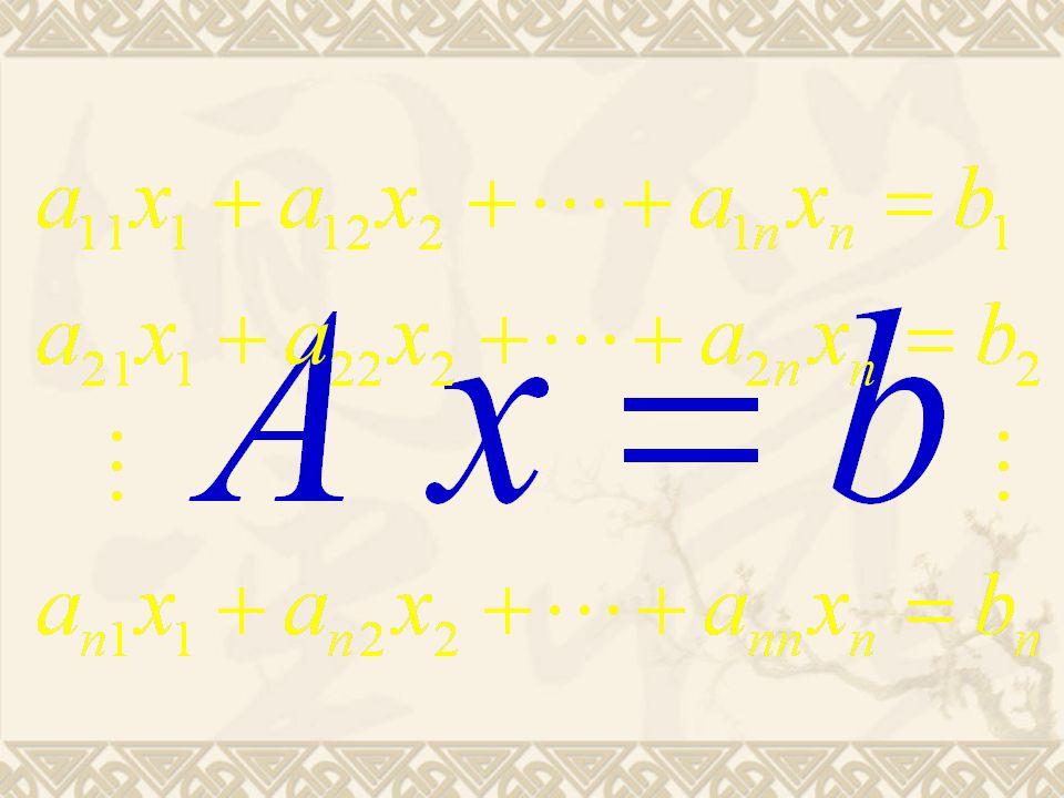 After k=1 After k=2 After k=3 After k=n-1 Gauss 消去过程图示
