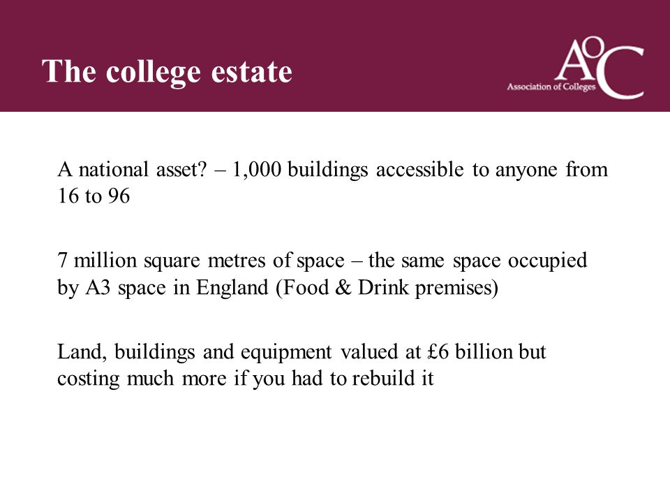 Title of the slide Second line of the slide A national asset.