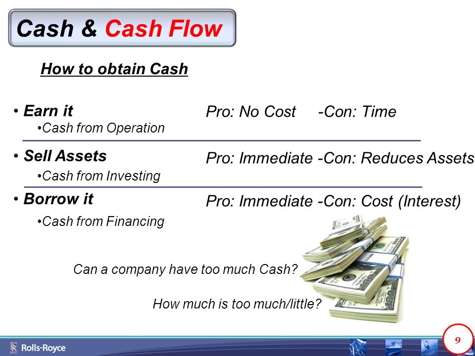 Cash & Cash Flow How to obtain Cash Can a company have too much Cash.