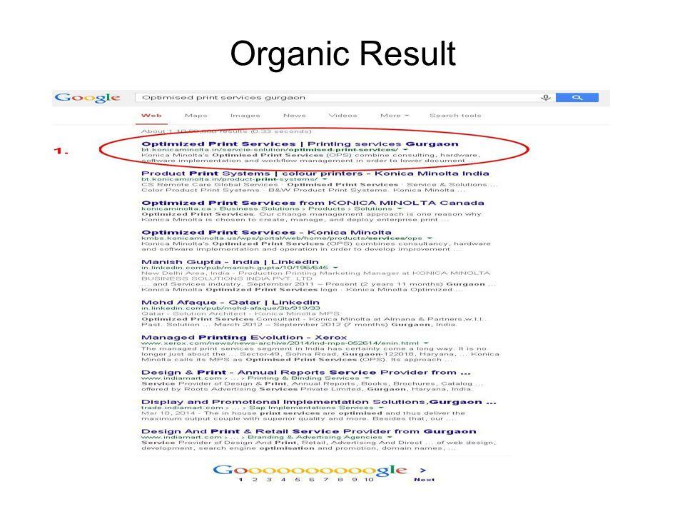 Organic Result