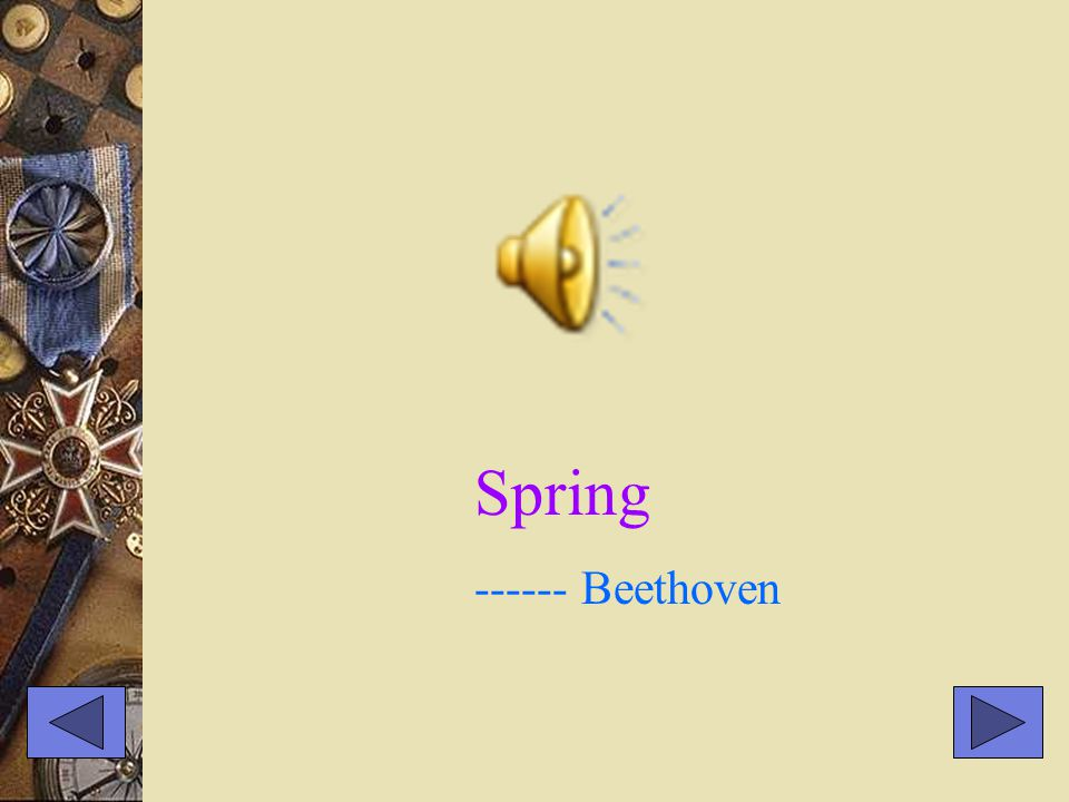 Spring ------ Beethoven