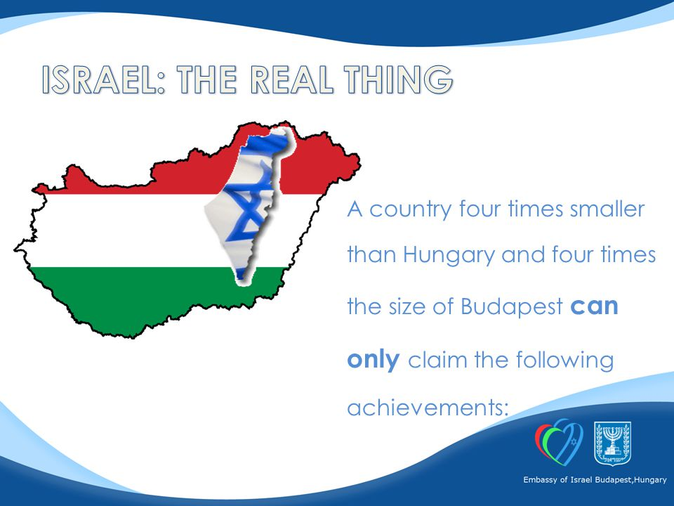 A country four times smaller than Hungary and four times the size of Budapest can only claim the following achievements: