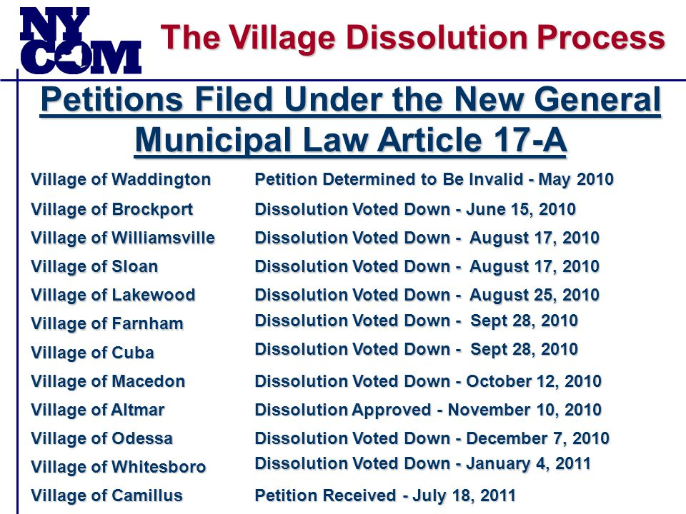 The Village Dissolution Process Main Issue Affecting Cost Savings Potential Scenarios Garbage District Lighting Town-Wide Sidewalks Town-Wide Sidewalks District Sidewalks Eliminated Garbage District Lighting District Sidewalks Town-Wide Sidewalks District Sidewalks Eliminated Garbage District Lighting Eliminated Sidewalks Town-Wide Sidewalks District Sidewalks Eliminated