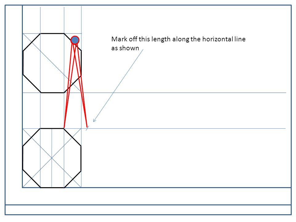 PARALLEL MOTION Mark off this length along the horizontal line as shown