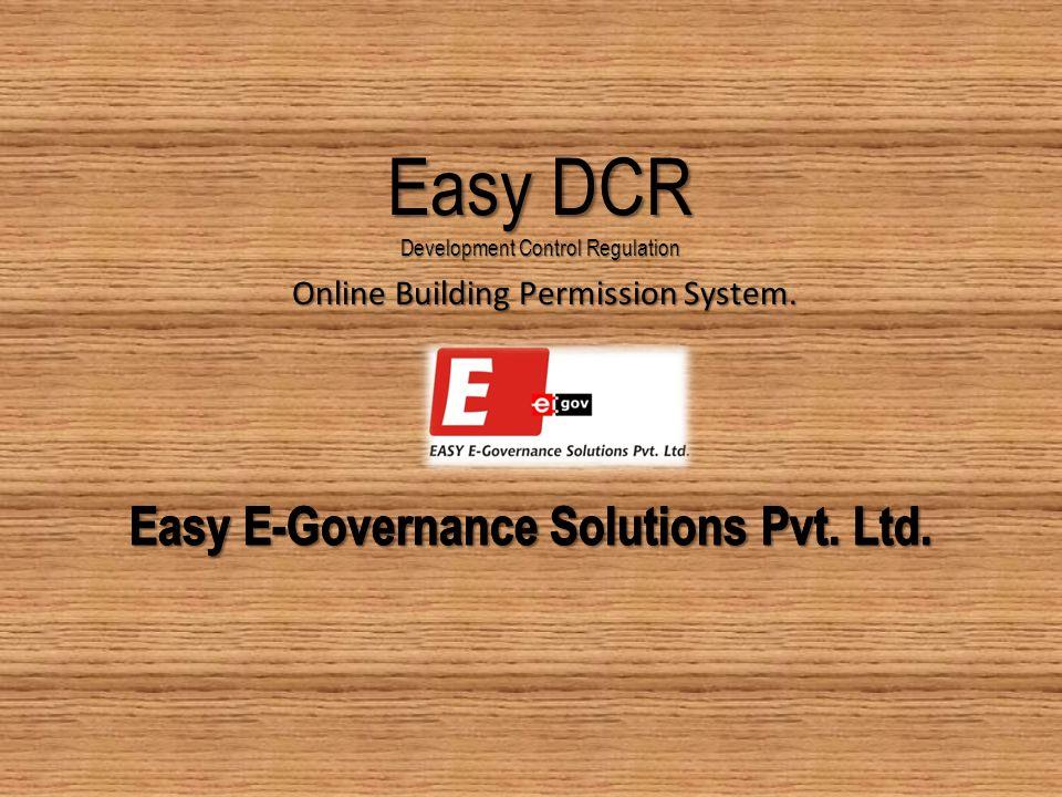 Easy DCR Development Control Regulation Online Building Permission System.