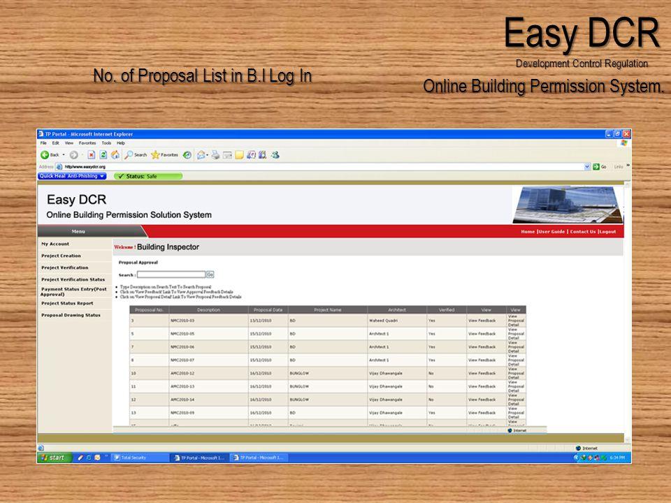 Online Building Permission System. Easy DCR Development Control Regulation No.