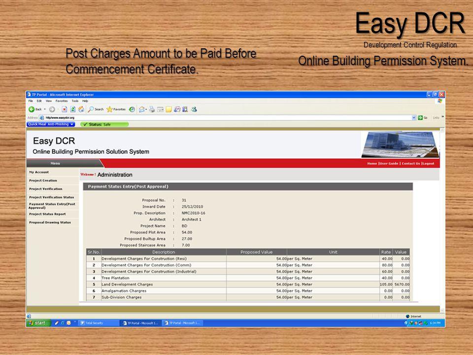 Online Building Permission System.