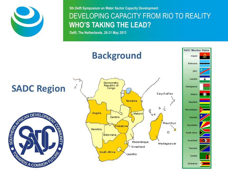 Purpose of 5th Symposium Background SADC Region